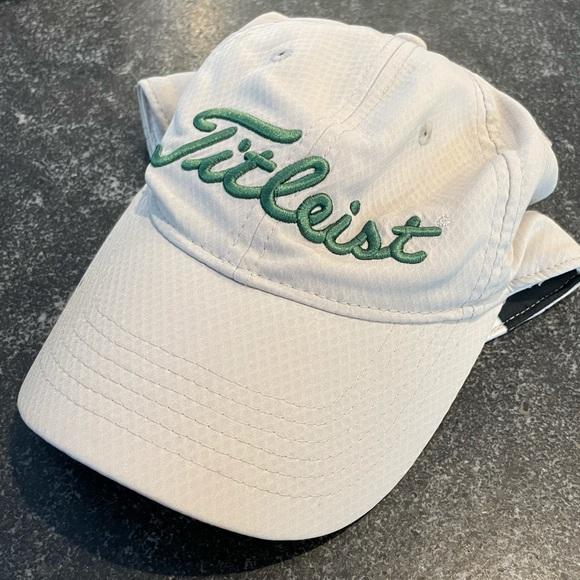 Titleist Green Cream Dry Fit Logo Golf Hat